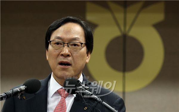 """김용환 NH농협금융 회장 """"목표 초과 달성"""""""