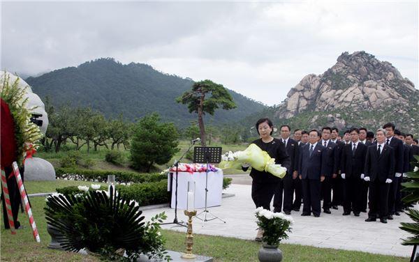 故 정몽헌 전 회장 타계 12주기…'현대맨' 20여명 금강산行