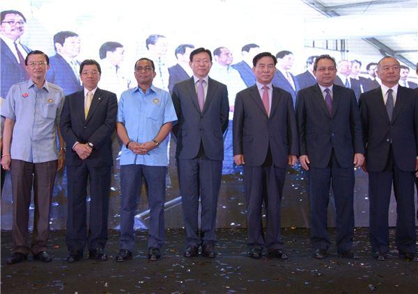 롯데케미칼 말레이시아 공장 준공식 참석