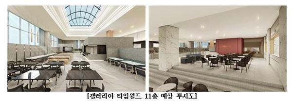 한화갤러리아타임월드, 중부권 업계 최초 '1조 클럽' 가입 유력