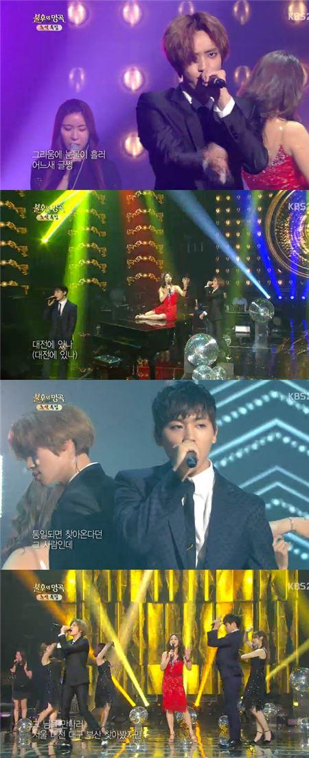 '불후의 명곡' 틴탑 니엘·창조, 정다은과 '서울 대전 대구 부산' 완벽 호흡