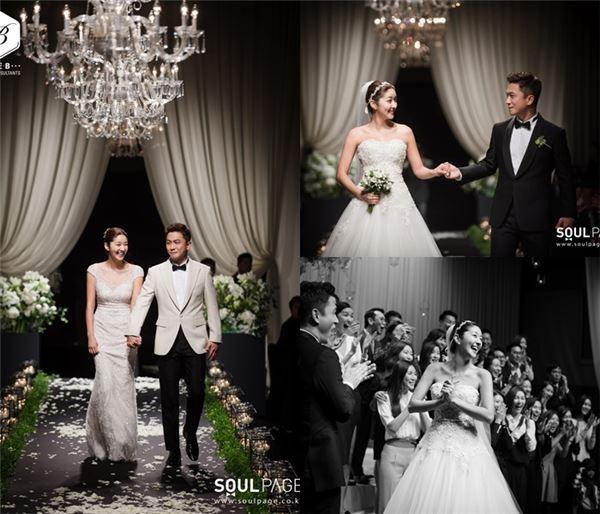 김빈우, 결혼식 비하인드 사진 공개 '행복한 미소'