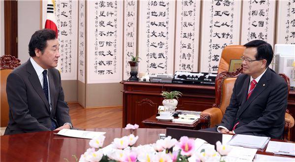 이낙연 지사, 정의화 국회의장 면담