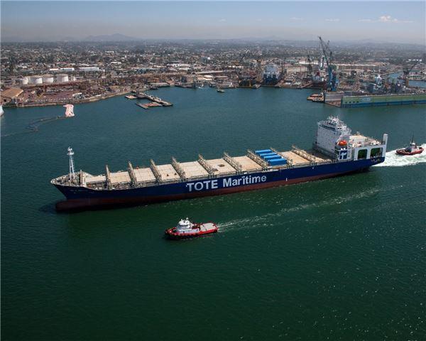 대우조선해양 기술 적용된 세계 첫 'LNG 추진 컨테이너선' 인도