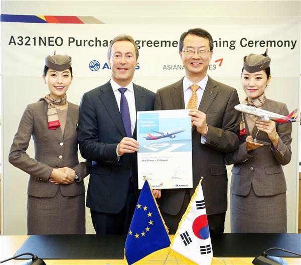 아시아나항공, 차세대 중소형기 A321NEO 25대 도입