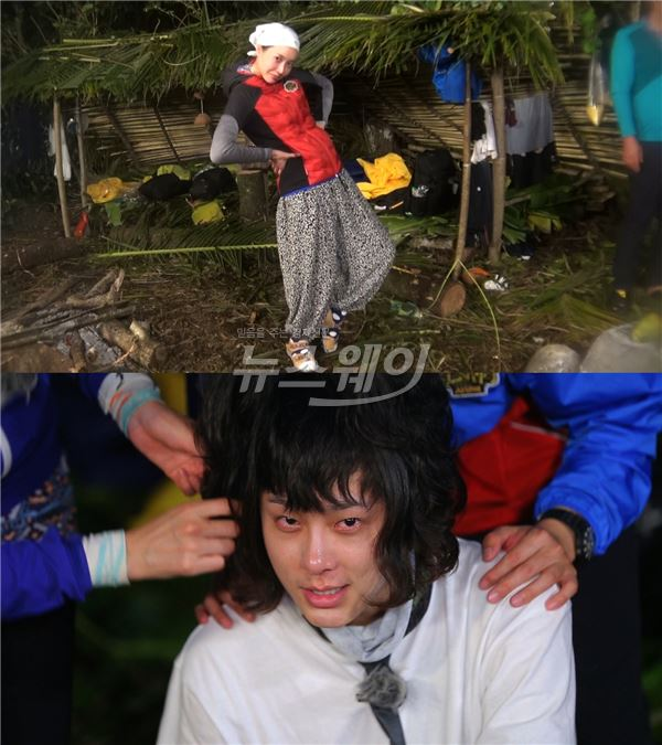 '정글의 법칙' 왕지혜·용준형, 스타일 파격 변신… 정글 패셔니스타 등극