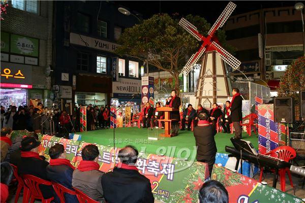 이낙연 전남지사, 크리스마스 트리 점등식 참석