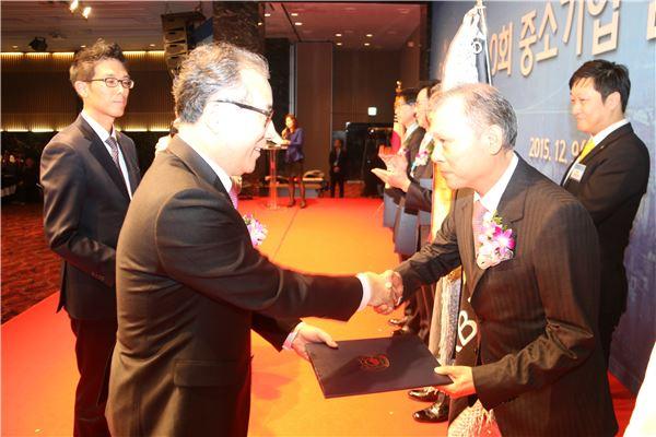 전북銀, '중소기업 금융지원 포상' 대통령 표창 수상