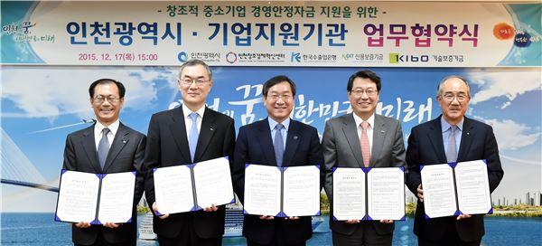 수은, 기보·신보와 손잡고 인천 중소기업 지원 나선다