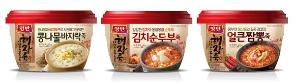 동원F&B, '양반 해장죽' 3종 출시