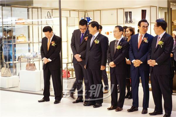 [NW포토]갤러리아면세점 63 개장식 참석한 김동선 과장