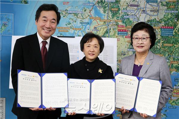 이낙연 지사, 동신대와 한국한의학연구원 건립 협약