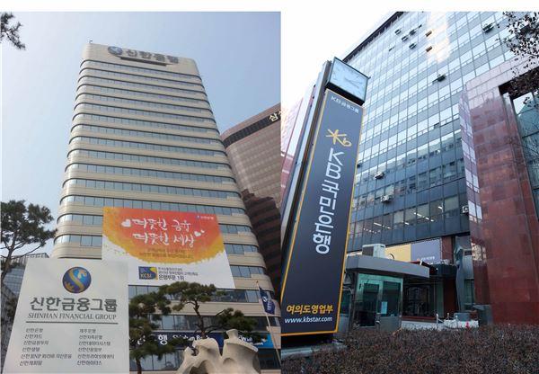 신한vs KB금융 임원인사 꼭지점은 '후계구도+리딩뱅크'
