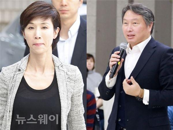 최태원 SK회장-노소영 관장, 1일 SK家 차례에 나란히 참석