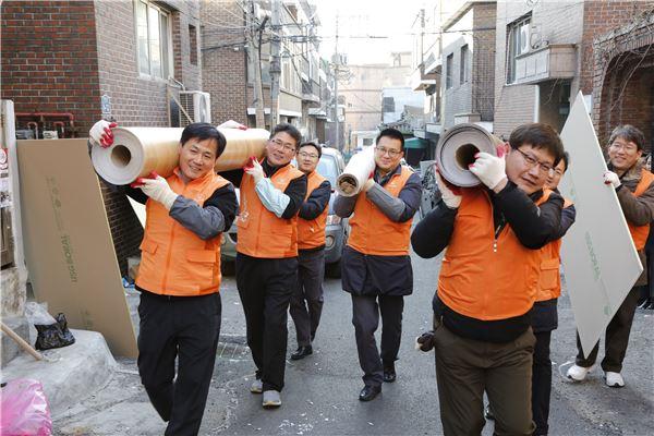 한화그룹 신임 임원, 소외계층 찾아 봉사활동 실시