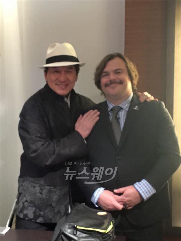 잭 블랙 '무한도전', 성룡과 인증샷… 동서양의 만남 '눈길'