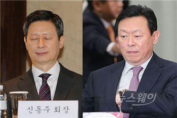 신격호·동주 VS 신동빈…롯데家 이젠 '지분 싸움'?