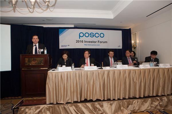 권오준 포스코 회장, 뉴욕서 기업설명회 개최