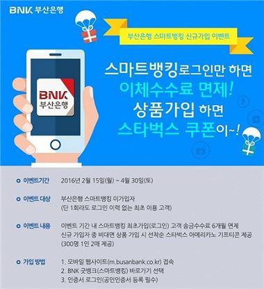 부산銀, 스마트뱅킹 송금수수료 면제 이벤트 시행