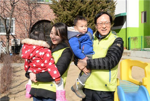 김용환 회장, NH투자증권 봉사단과 함께 보육원 봉사활동 실시