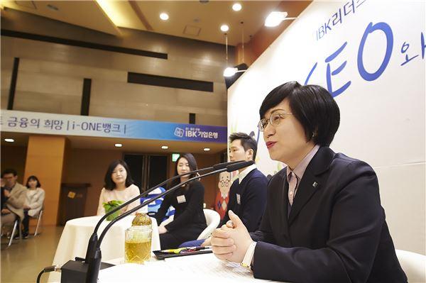 권선주 기업은행장, 직원들과 대화나서 '소통경영 강화'