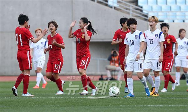 리우올림픽 여자축구, 아쉬운 전반전 종료…스코어 1:0