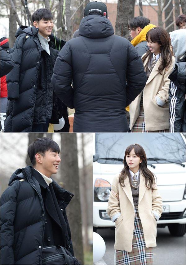 '페이지터너' 김소현·지수, 봄기운 가득 웃음 발사