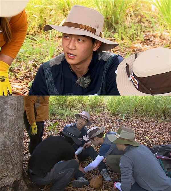 '정글의 법칙' 에이스 조타, 코코넛 손질하다 허벅지 부상