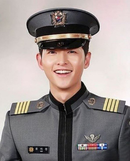 """'태양의 후예' 송중기, 무결점 유시진 미모…""""생도 시절도 멋지지 말입니다"""""""