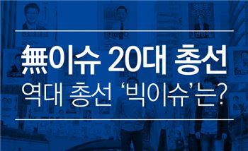 이슈 없는 20대 총선…역대 총선 '빅이슈'는?
