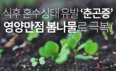식후 혼수상태 유발 '춘곤증', 영양만점 봄나물로 극복!