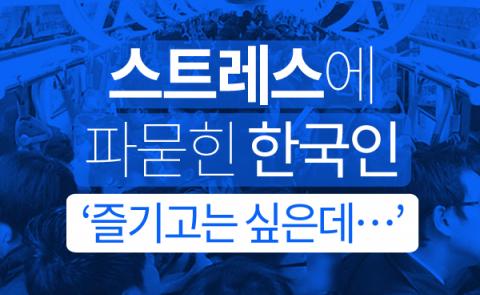 스트레스에 파묻힌 한국인 '즐기고는 싶은데…'