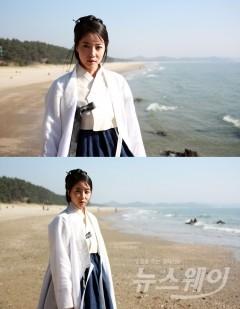 오윤아, 단아한 한복자태 아련한 눈빛… '사임당' 촬영장 공개