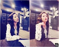 최정원, 도자기피부 마녀여신 등극…'마녀의 성' 촬영장 뒷모습