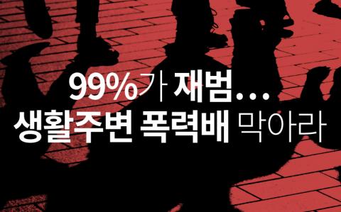 99%가 재범…생활주변 폭력배 막아라
