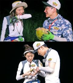 이특♥장희진, 정글에서 첫날밤… '정글의 법칙' 러브라인 탄생?