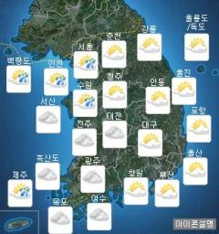 전국 흐리고 일부 약한 비…오후 소나기