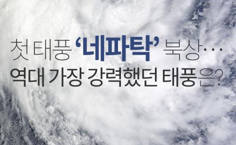 '네파탁' 북상…역대 가장 강력했던 태풍은?