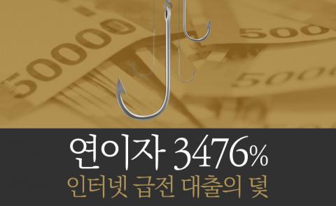 '연이자 3476%' 인터넷 급전 대출의 덫