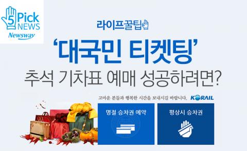 '대국민 티켓팅' 추석 기차표 예매 성공하려면?