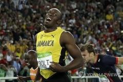 볼트, 올림픽 3회 연속 3관왕…자메이카 400m계주 우승