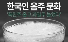 [카드뉴스] 한국인 음주 문화 '폭탄주 줄고 과일주 늘었다'