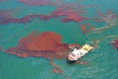 부산 감천항에 기름 유출 후 도주한 러시아 선박 검거