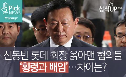 신동빈 롯데 회장 옭아맨 혐의들 '횡령과 배임'…차이는?