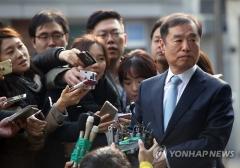 김병준 국무총리, 굳은 표정으로 첫 출근