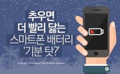 추우면 더 빨리 닳는 스마트폰 배터리 '기분 탓?'