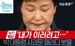 [이슈 콕콕] '내가 이러려고···' 박 대통령 사과문 패러디 봇물