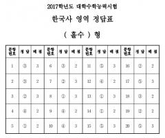 한국사 영역 정답