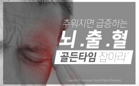 추워지면 급증하는 뇌출혈 '골든타임 잡아라'