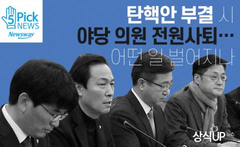 탄핵안 부결 시 야당 의원 전원사퇴…어떤 일 벌어지나